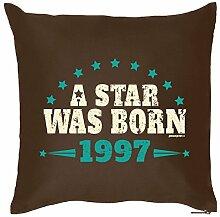 Zum 18. Geburtstag! Kissen mit Füllung - A Star was born 1997 - Ein cooles Geschenk zum 18ten!