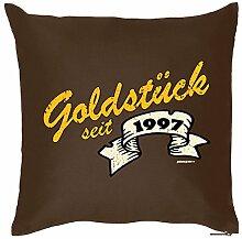 Zum 18. Geburtstag! Kissen mit Füllung - Goldstück seit 1997 - Ein cooles Geschenk zum 18ten!