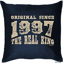 Zum 18. Geburtstag! Kissen mit Füllung - Original Since 1997 The Real King - Ein cooles Geschenk zum 18ten!