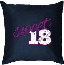 Zum 18. Geburtstag! Kissen mit Füllung - Sweet 18 - Ein süßes Geschenk zum 18ten! Jahrgang 1997