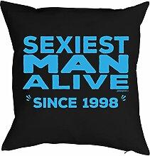 zum 20. Geburtstag Geburtstagsgeschenk Ehemann Freund für Ihn Mann Deko Kissenbezug SEXIEST MAN Print Jahrgang geboren 1998 Geschenk Kissenhülle 40x40 cm : )