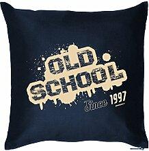 zum 21. Geburtstag Geschenkidee Polster Kissen mit Füllung Old School 1997 Geschenk zum 21. Geburtstag 21 Jahre Mitbringsel
