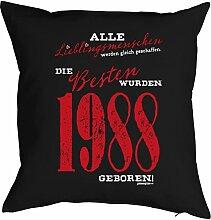 zum 30. Geburtstag Geschenk für Sie und Ihn Mann Frau Deko Kissen mit Innenkissen LIEBLINGSMENSCHEN Aufdruck Jahrgang geboren 1988 Geb. 40x40cm : )