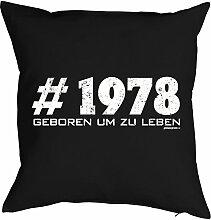 zum 40. Geburtstag Geburtstagsgeschenk für Sie und Ihn Mann Frau Deko Kissen mit Innenkissen #1978 Print Jahrgang geboren 1978 Geschenk 40 Geb. 40x40cm : )