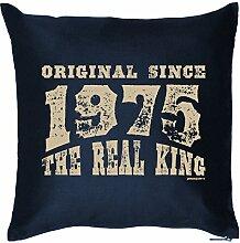 zum 43. Geburtstags Geschenkidee Kissen mit Füllung Original Since 1975 Geschenk 43 Geburtstag Polster Geburtstagsgeschenk zum 43er