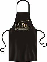 zum 50 Geburtstag Grillschürze Oldtimer in Betrieb seit 50 Jahren in schwarz one size