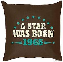 Zum 50. Geburtstag! Kissen mit Füllung - A Star was born 1965 - Ein originelles Geschenk zum 50ger!