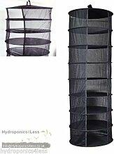 Zum Aufhängen Trocknen Rack 8Etagen Hydrokultur Grow Zelt Kräuter Bud Pflanze Kleidung Trocknen Ne