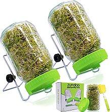 ZUNALA Sprouts Anzucht-Set – Keimgläser mit