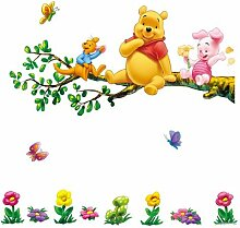 Zuolanyoulan Winnie the Pooh Muster Wandsticker