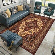 Zuonuoo Home Designer Teppich Beigebrauner roter