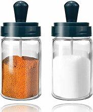 ZUQIN Gewürzdose aus Glas, 237 ml, leer, klarer
