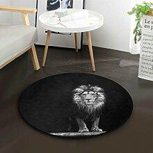 Zurück Lion Round Area Teppich für Wohnzimmer