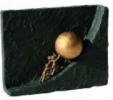 Zusammen etwas bewegen * Geschenkidee Weihnachten * Bronzeskulptur mit schwarzem Steingusssockel - Lieferung mit Expertise Grösse: 19 x 14 cm