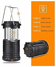 Zusammenklappbare 30 LED leichte tragbare