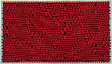 Zuzunaga - Barcelona 1 Wolldecke 146 x 212 cm, rot