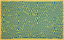 Zuzunaga - Barcelona 2 Wolldecke 146 x 212 cm, grün / gelb