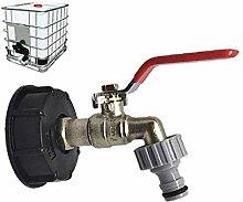 ZVBEP Garten Wasserhahn Wassertank Ablassanschluss