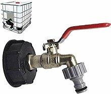 ZVBEP Gartenhahn Wassertank Adapter Gartenschlauch
