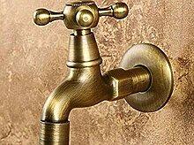 ZVBEP Messing Wasserhahn für Garten und Bad