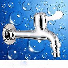 ZVBEP Waschbecken Wasserhahn Vollkupfer Single