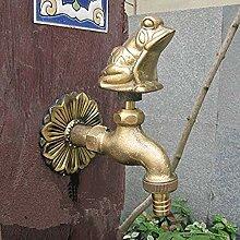 ZVBEP Wasserhahn Garten Tierform mit antikem