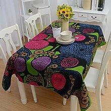 ZWBBO Tischdecke Stoff Tischdecken Für