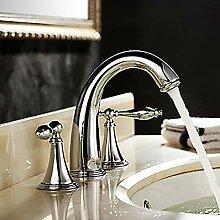 Zwei-Griff-Drei-Loch-Badewanne Wasserhahn Moderne