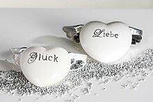 Zwei Herzen mit Flügeln - GLÜCK & LIEBE