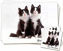 Zwei Katzen 'Love You Mum' Zwillings