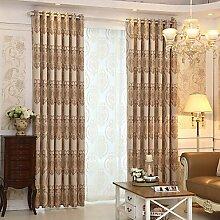 Zwei Panel Europa Fashion Style Kinderzimmer Wohnzimmer Zimmer Jacquard Fenster Vorhänge , W42 x L96 inch