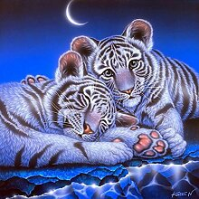 Zwei Tiger Diamant Malerei 5D DIY Voll Niedlich