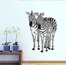 Zwei Zebra Wandkunst Aufkleber für Kinderzimmer