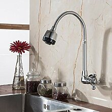 Zweigriff Bidet-Armaturen Chrom-Finish Wandmontage