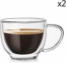 Zweischichtige Home Used Cafe Espresso Kaffeeglas
