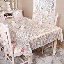 Zweiseitige Garten Spitzen Tischdecke/Tischdecke decke/ zu vermeiden/wasserdichtPVCTischdecken/wasserdichte Tapete-N 180x136cm(71x54inch)
