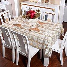 Zweiseitige Garten Spitzen Tischdecke/Tischdecke decke/ zu vermeiden/wasserdichtPVCTischdecken/wasserdichte Tapete-R 100x136cm(39x54inch)