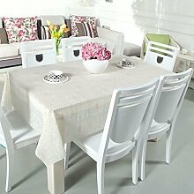 Zweiseitige Garten Spitzen Tischdecke/Tischdecke decke/ zu vermeiden/wasserdichtPVCTischdecken/wasserdichte Tapete-L 180x136cm(71x54inch)