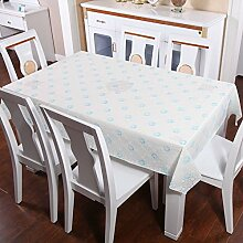 Zweiseitige Garten Spitzen Tischdecke/Tischdecke decke/ zu vermeiden/wasserdichtPVCTischdecken/wasserdichte Tapete-J 160x136cm(63x54inch)