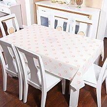 Zweiseitige Garten Spitzen Tischdecke/Tischdecke decke/ zu vermeiden/wasserdichtPVCTischdecken/wasserdichte Tapete-H 200x136cm(79x54inch)