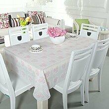 Zweiseitige Garten Spitzen Tischdecke/Tischdecke decke/ zu vermeiden/wasserdichtPVCTischdecken/wasserdichte Tapete-F 136x136cm(54x54inch)