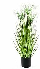 Zwerg-Papyrus 75 cm Kunstpflanze hochwertig Deko-Pflanze im Topf 1 Pflanze