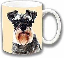 Zwergschnauzer Hundekopf Foto Keramik Tee-/ Kaffeetasse Einzigartige Geschenkidee