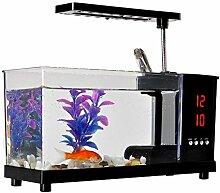 ZWF® USB LCD Tischlampe Licht Mini Fisch Tank