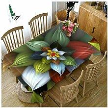 ZWJ Tischdecke 3DBlau Blumen Muster