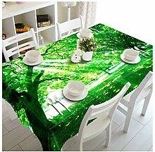 ZWJ Tischdecke Lavendel 3D Muster Waschbar
