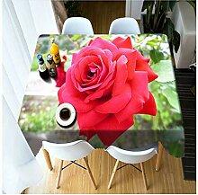 ZWJ Weihnachtsessen 3D Tischdecke Rote Rose