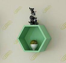 ZWL Art Lattice, Kreativ Einfache Mode Wohnzimmer Schlafzimmer Home Backen Farbe Schindel Regal Board 30cm * 15cm Fashion. z ( Farbe : A )