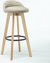 ZWL Bar Stühle, hohe Hocker Kreative Stühle Rückenlehne Stuhl Massivholz Eisen Retro Rotation Einfache Bar Club Outdoor Esszimmer H82cmxW49cm Mode ( Farbe : C )