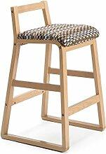 ZWL Bar Stuhl, hohe Hocker Bar Hocker High Stuhl Massivholz Retro kreative Mode Bar Café W48cmxH81.5cm Mode ( Farbe : D )